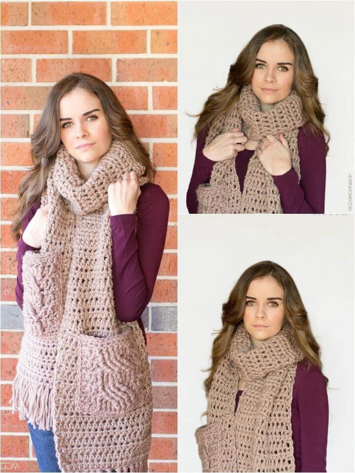 free crochet oversized scarf pattern