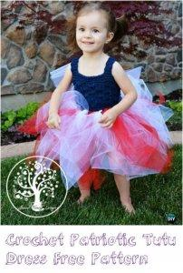 10 Free Crochet Patterns for Girl Tutu Dress Top
