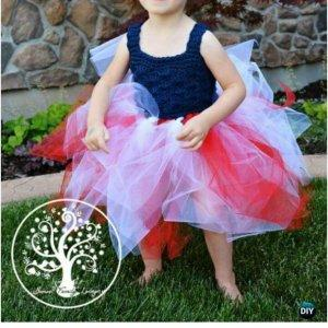 free crochet patriotic tutu dress pattern