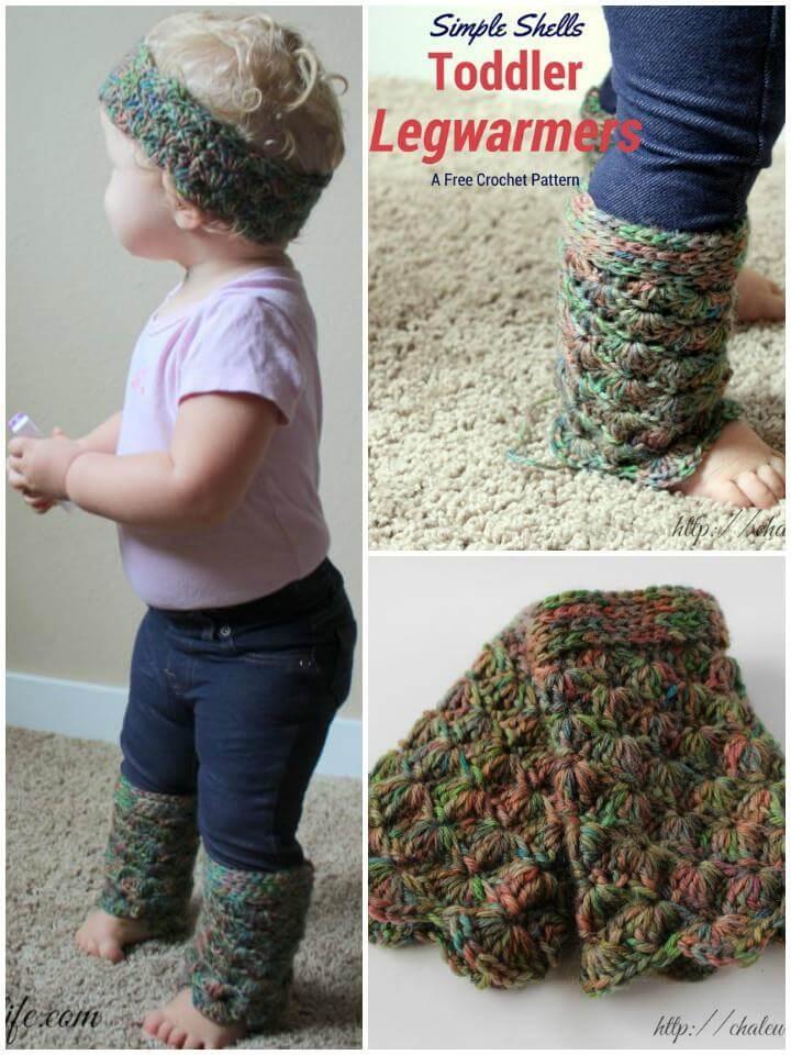 simple shells crochet toddler legwarmers