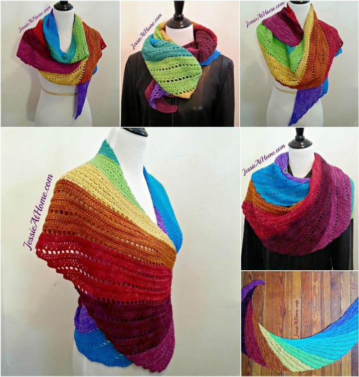 crochet skylark in wonderland shawl free pattern