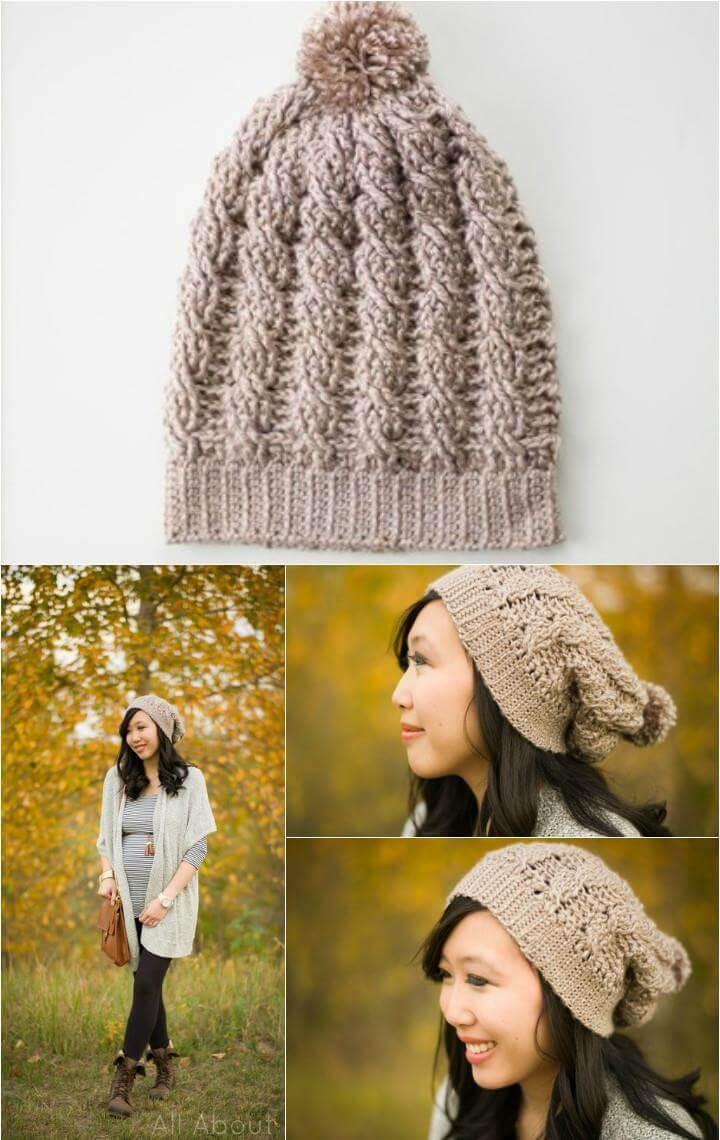 easy slouchy beanie free pattern