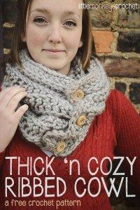 10 Super Chunky Free Crochet Cowl Scarf Patterns