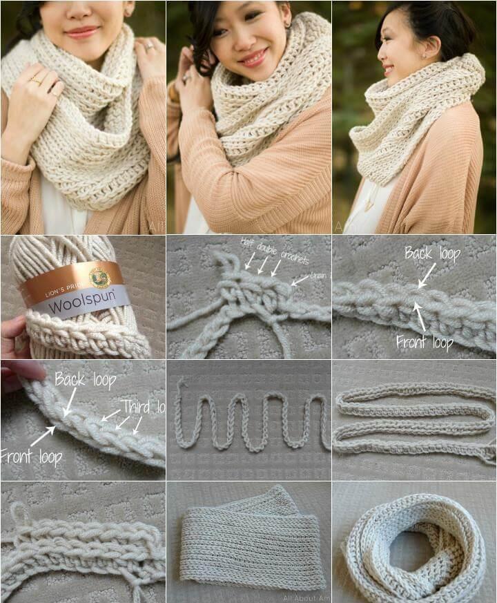free crochet triple luxe cowl pattern