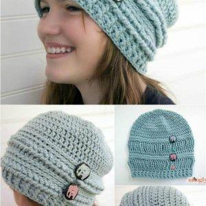 ups and downs crochet slouchy beanie pattern