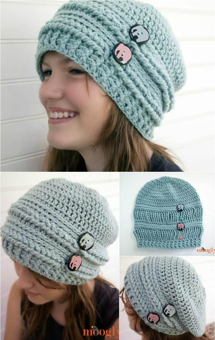 10 Free Crochet Patterns For Slouch Hat 101 Crochet Patterns