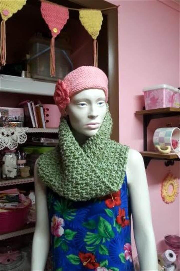 easy crochet cowl free pattern
