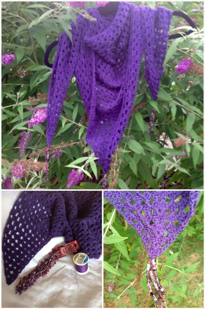 Free Crochet Beaded Shawl Pattern