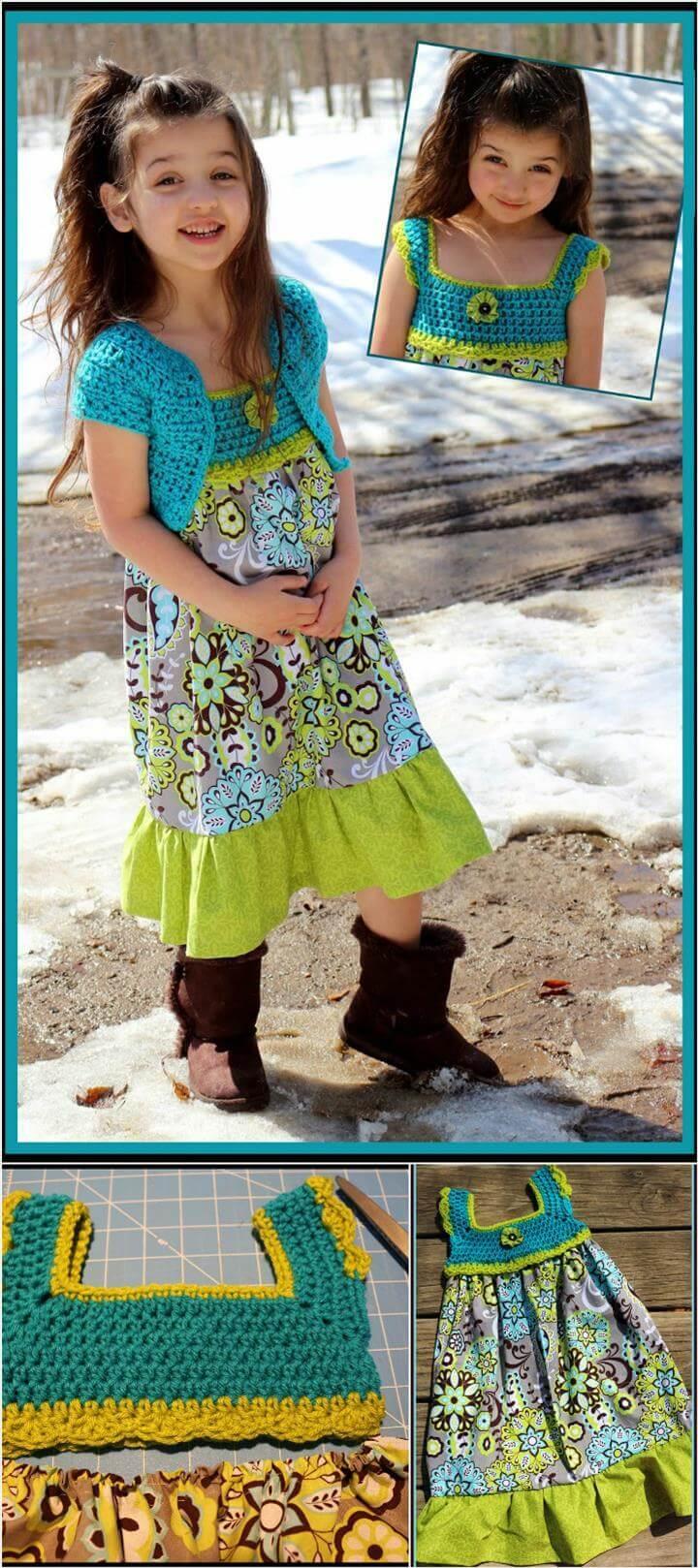 crochet double stitch tutu dress free pattern
