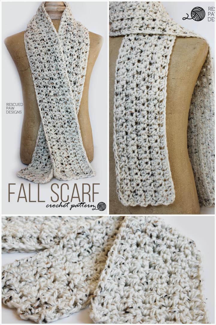 crochet fall scarf free pattern