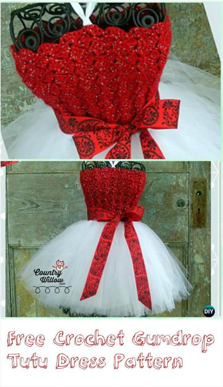crochet gumdrope tutu dress