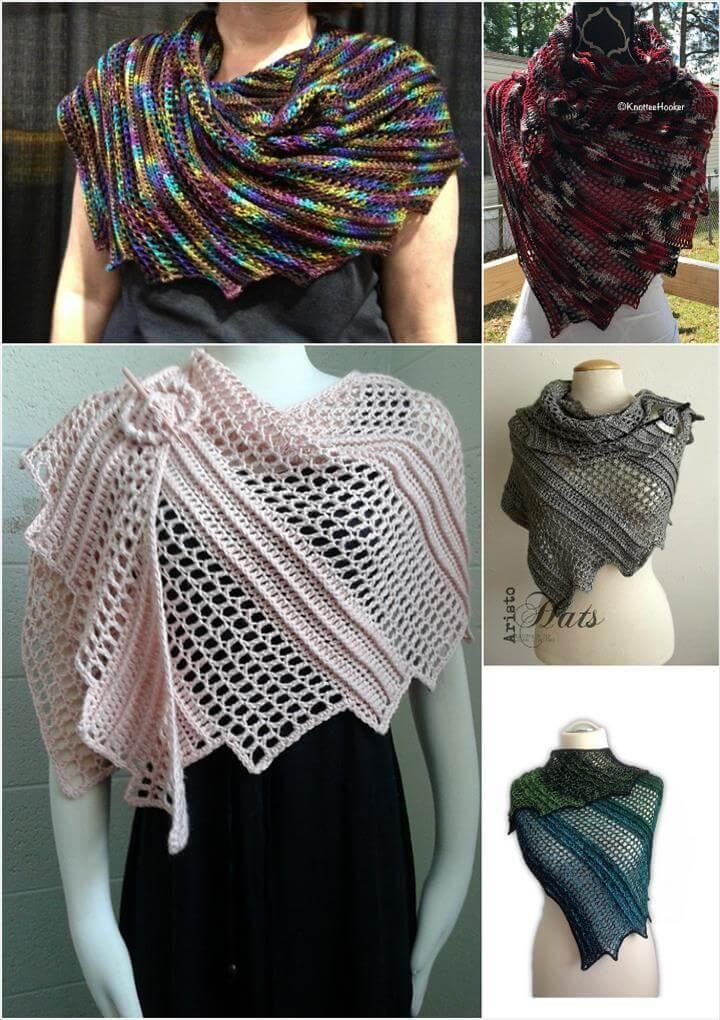 easy crochet lizard shawl free pattern