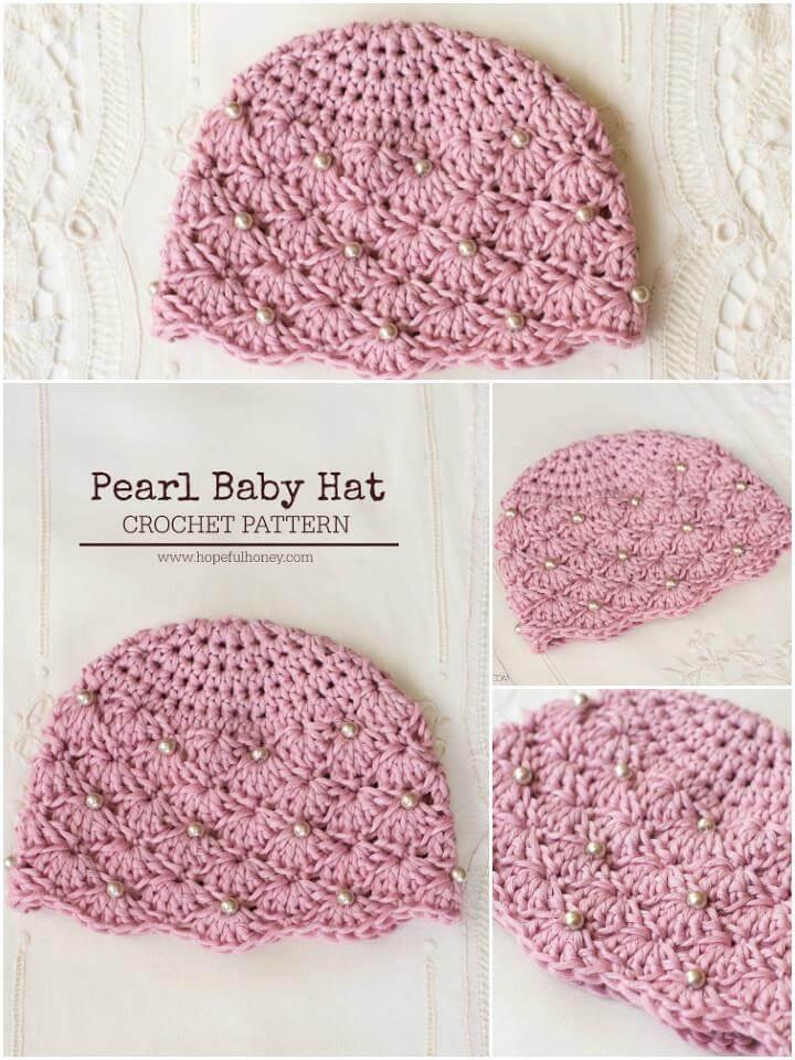 free crochet pearl hat pattern