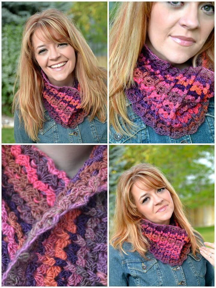 crochet sherbet cowl free pattern