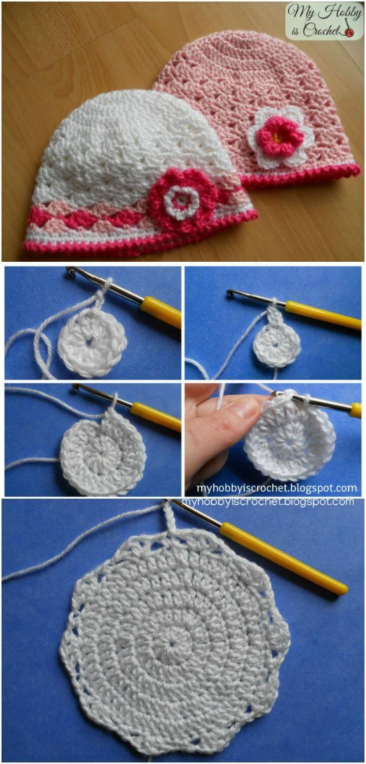 crochet spring lacy hat pattern