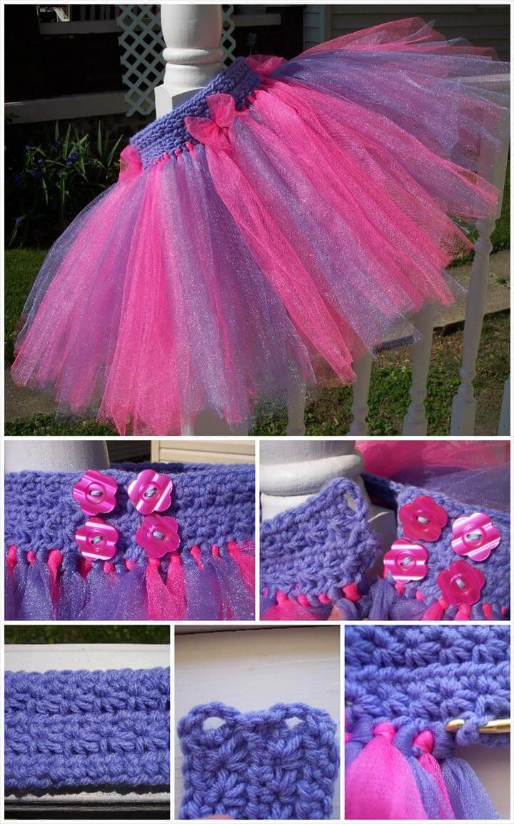 crochet star stitch tutu dress