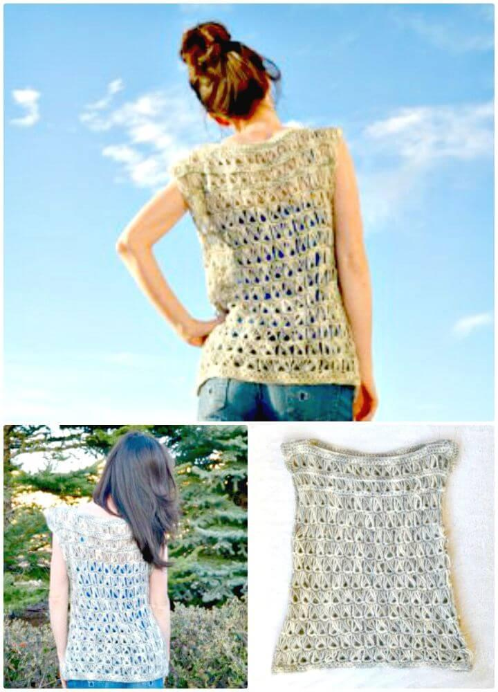 Easy How to Free Crochet Broomstick Lace Top Pattern