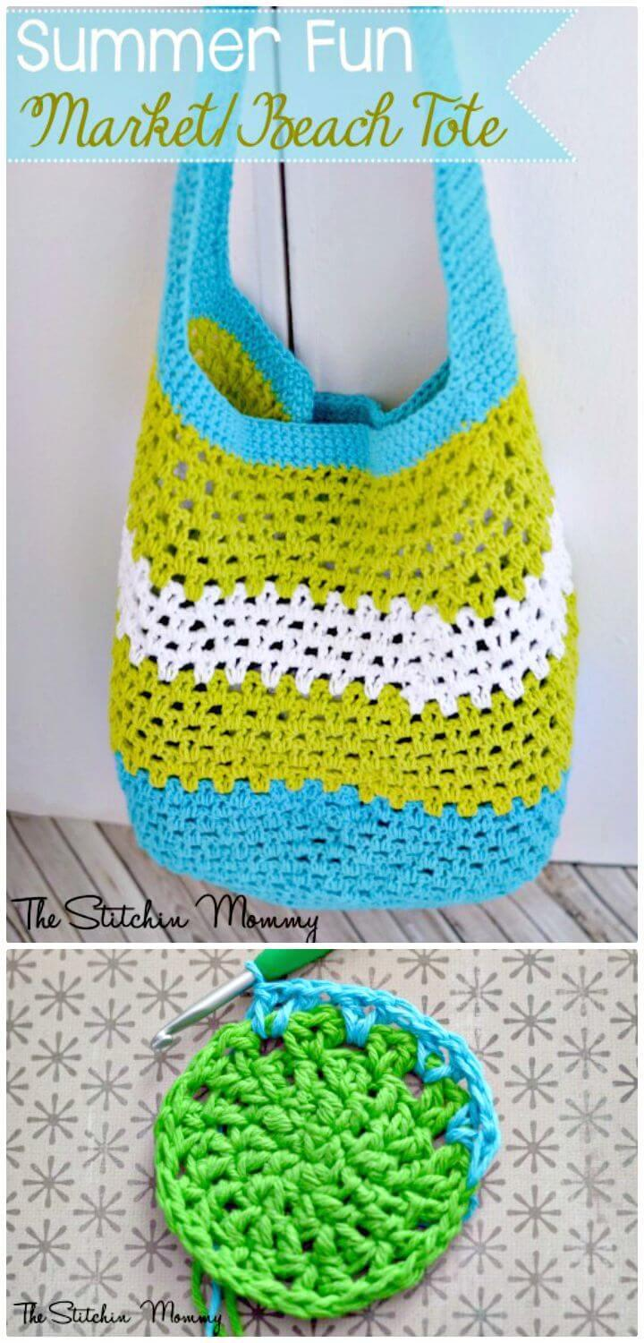 Easy Free Crochet Summer Fun Market Pattern