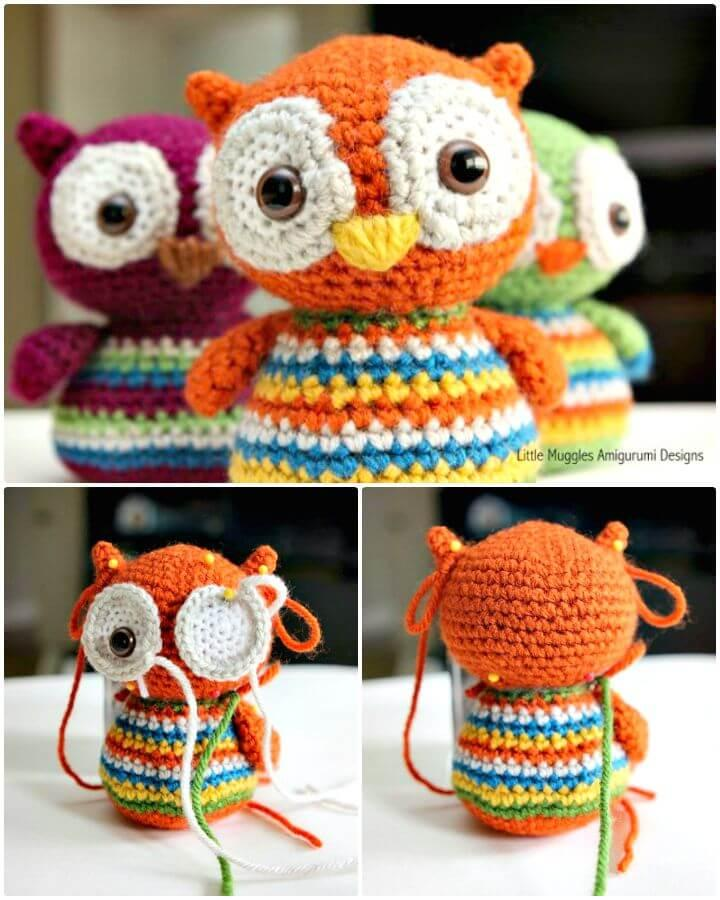 Easy How To Free Crochet Baby Owl Pattern