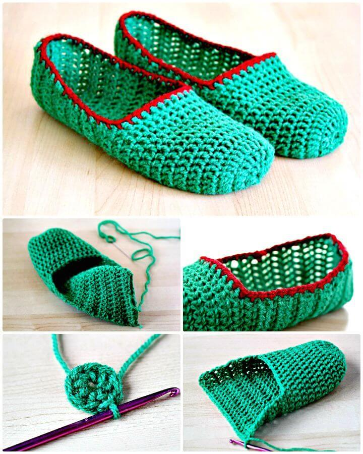 Simple and Easy Free Crochet Slippers Pattern