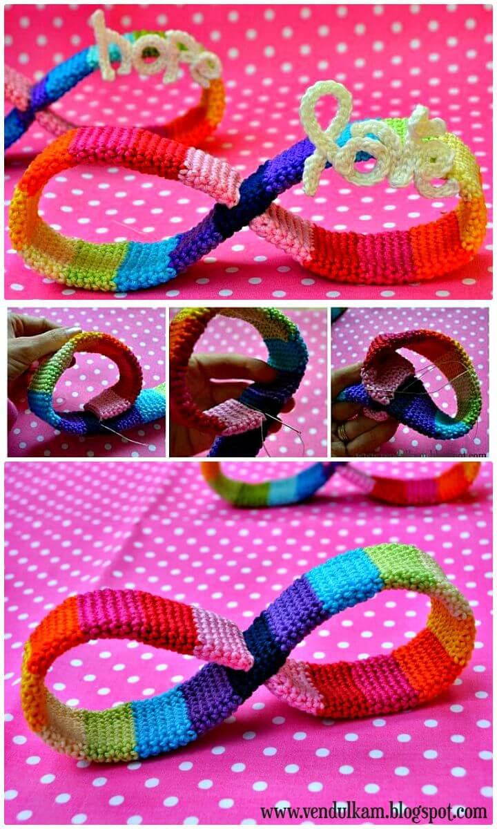 Easy How to Free Crochet Rainbow Of Hope And Love Pattern