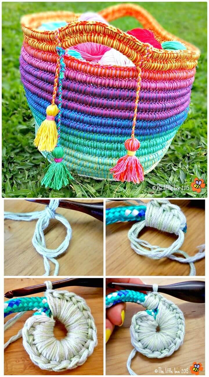 Easy Free Crochet Ropey Rainbows Pattern
