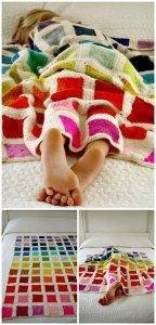 Stylish Free Crochet Rainbow Bear's Rainbow Blanket Pattern